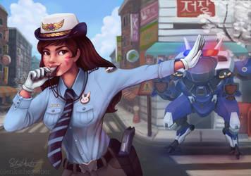 Officer D.Va by erikathegoober