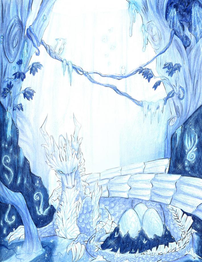 Lair of the Crystal Dragon by Laikari
