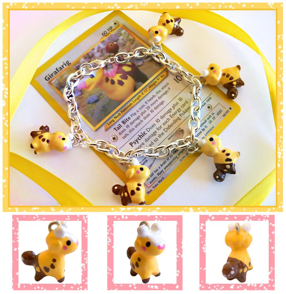 Girafarig Bracelet by MapleDragon