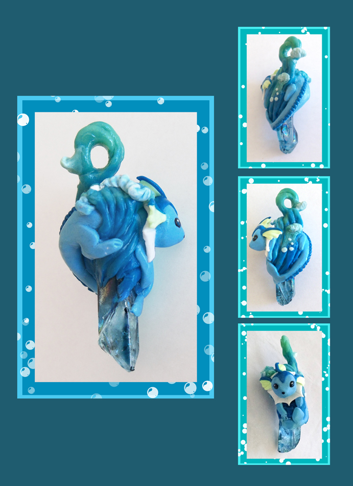 Vaporeon Crystal Pendant by Laikari