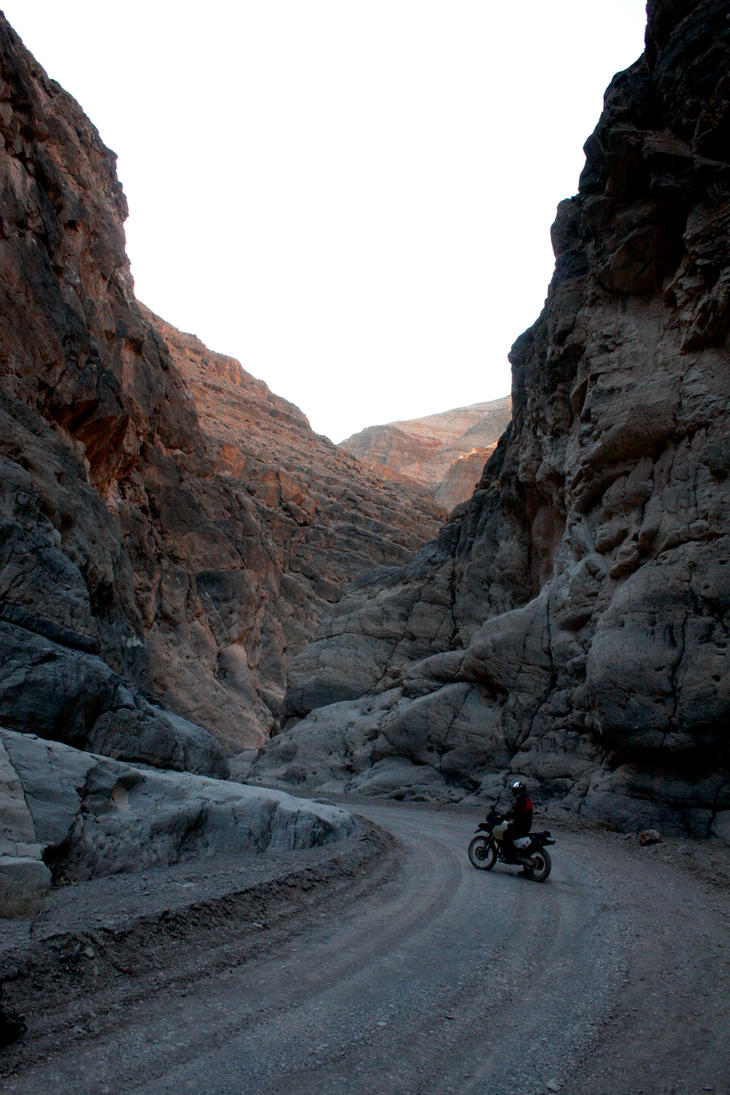 Death Valley on the Motorcycle by TinyCueCard