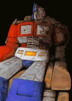 Optimus Prime in Death by Joed1980