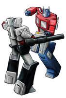 Optimus Vs Megatron by Joed1980