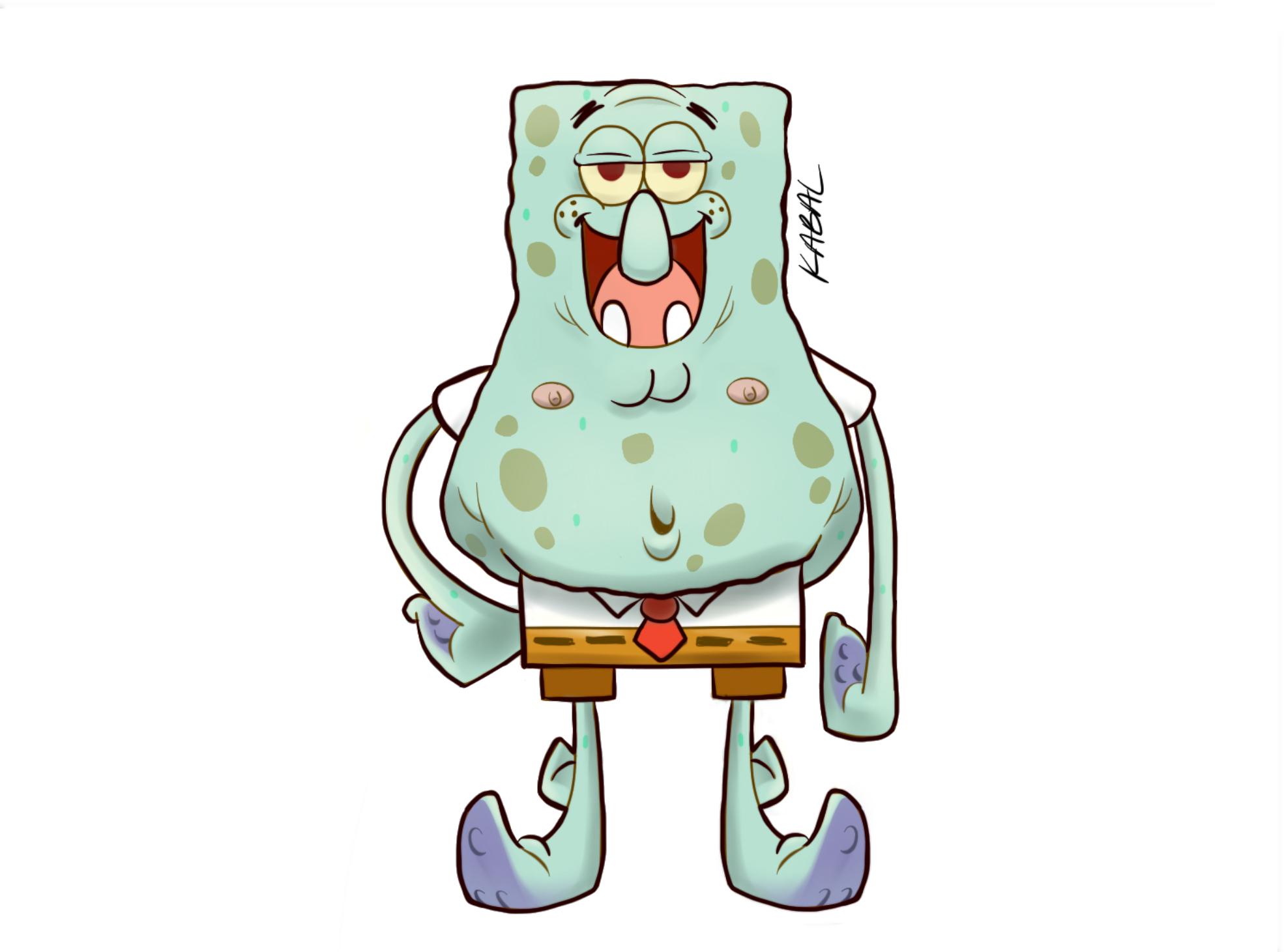 spongebob patrick squidward mashup by kcabal on deviantart