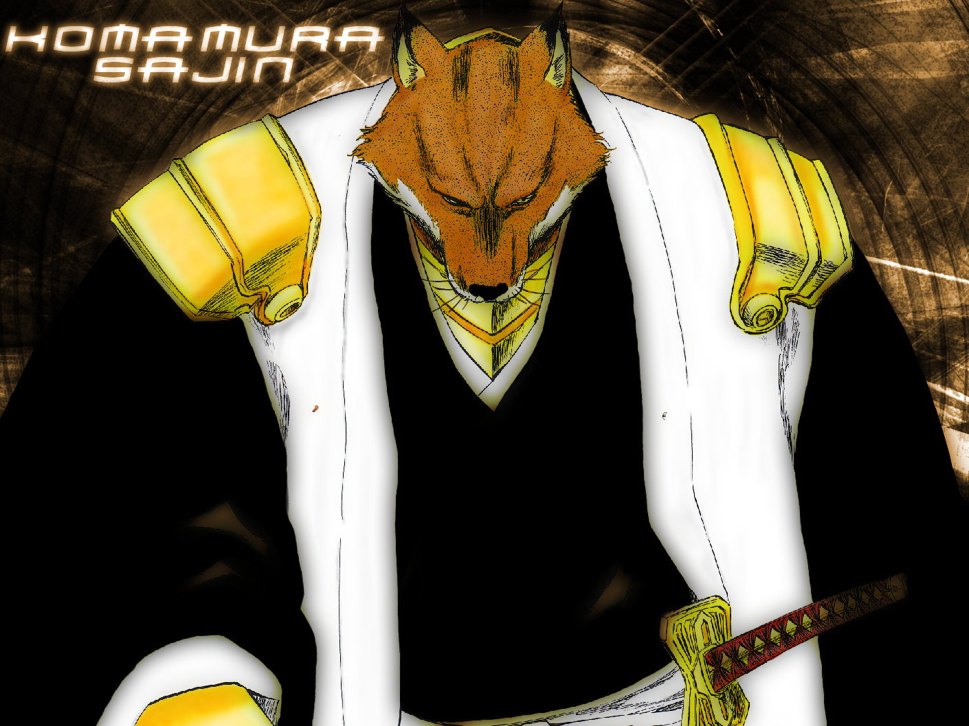 My Favorite Bleach Character Komamura_Sajin___Wallpaper_by_cyberrob50