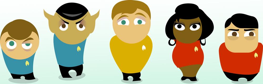 TOSART: Star Trek Cast Cartoon by moiramurphy