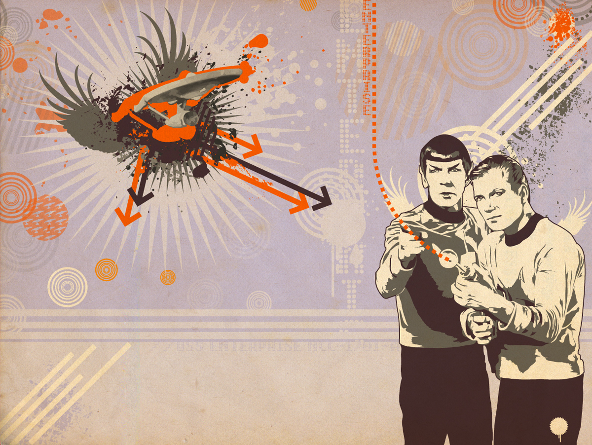 TOSART: Kirk and Spock 3