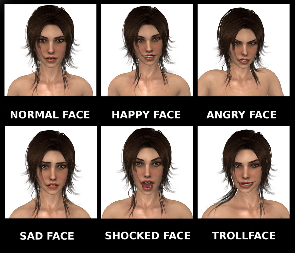 Tomb Raider 2013 Many Faces Of Lara Croft By Konradm96 On Deviantart