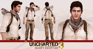 Uncharted 3 - Nathan Drake model release by konradM96