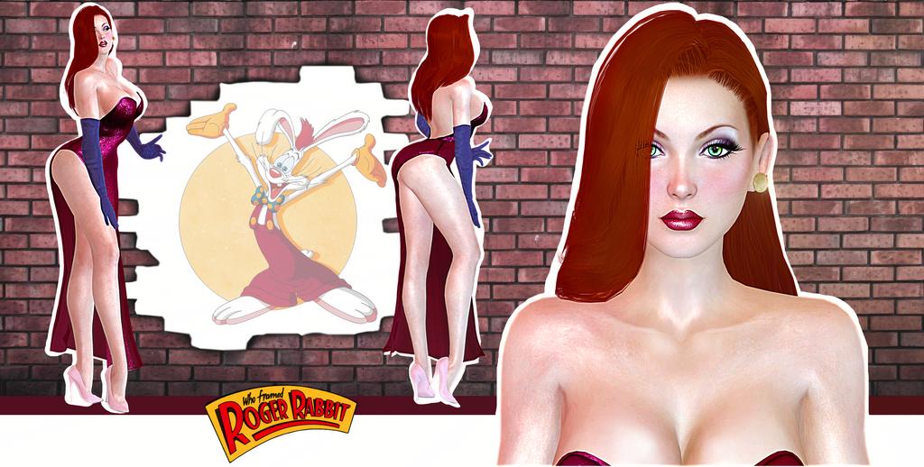 DoA5 Jessica Rabbit 3D model release ( xps) by konradM96