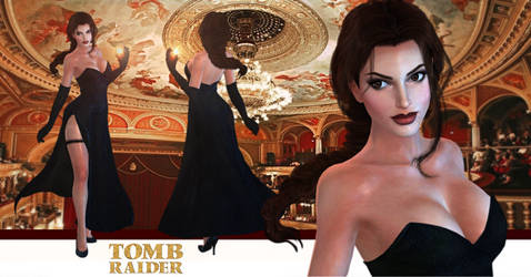 Tomb Raider Lara Croft Opera Dress model release by konradM96
