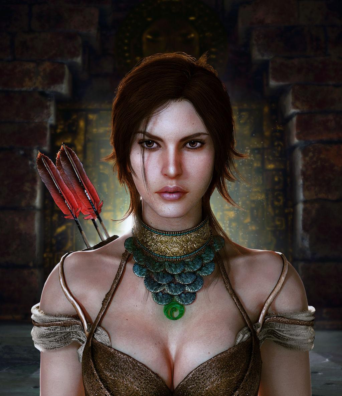 Wallpaper Lara Croft Shadow Of The Tomb Raider Concept: Shadow Of The Tomb Raider Lara Croft Portrait By KonradM96