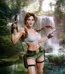 Tomb Raider III Lara Croft South Pacific by konradM96