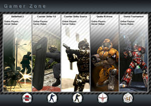 Online Games Website Design