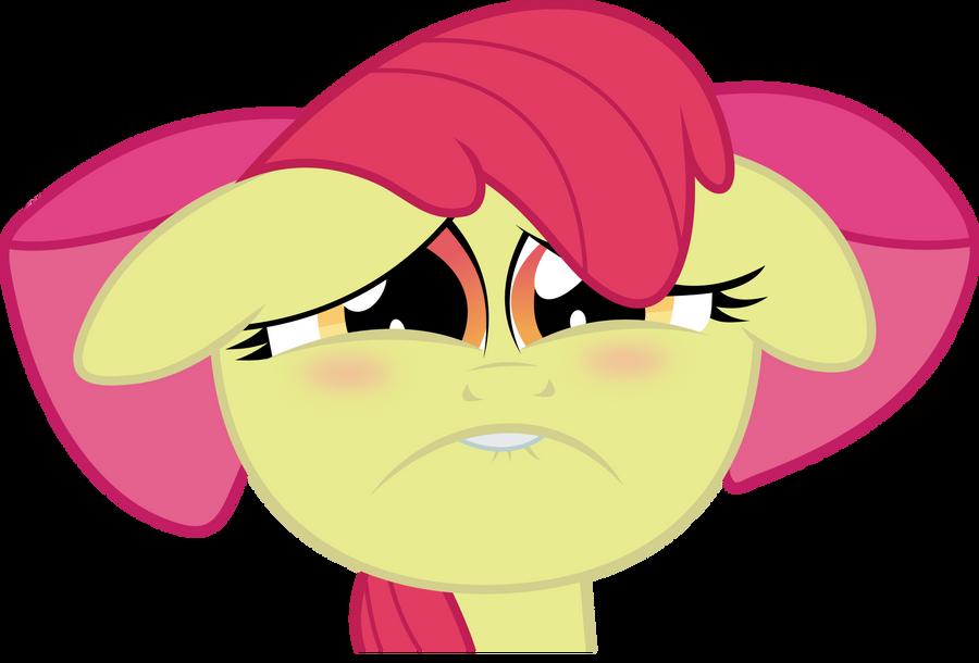 Sad Applebloom by X-Discord-X