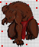 Rawr, werebear by Celtic-Whispers