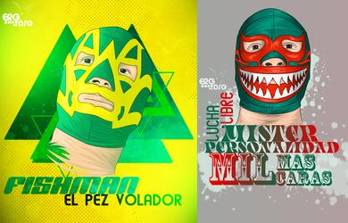 Mil Mascaras Y Fishman by elroyguerrero