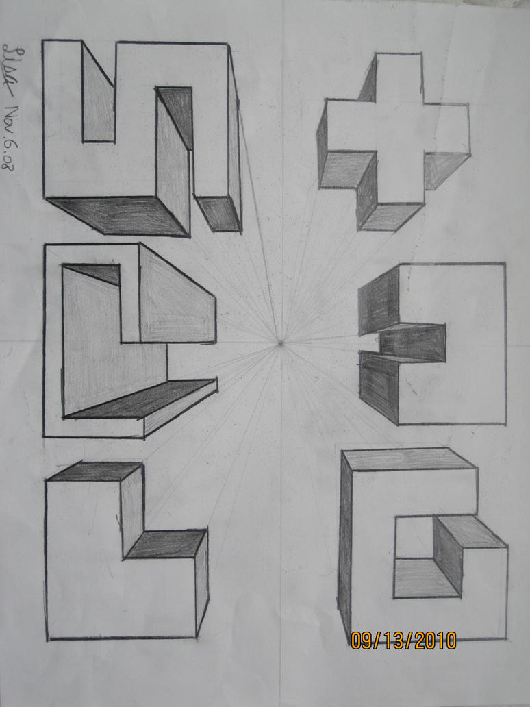 Cool One Point Perspective Drawings one point perspective-...