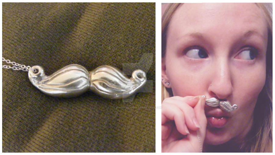 Mustache Pendant by Mad-Queen1013