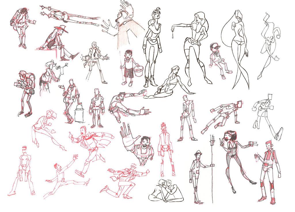 a few more recent sketches by atarashiidesu