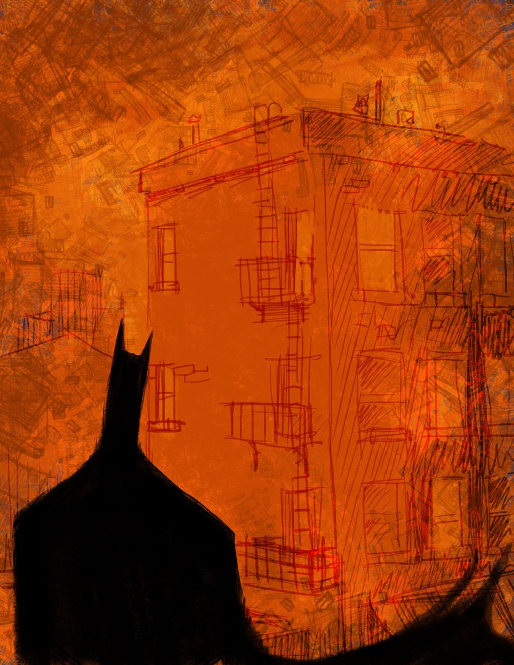 The bat doodle by atarashiidesu