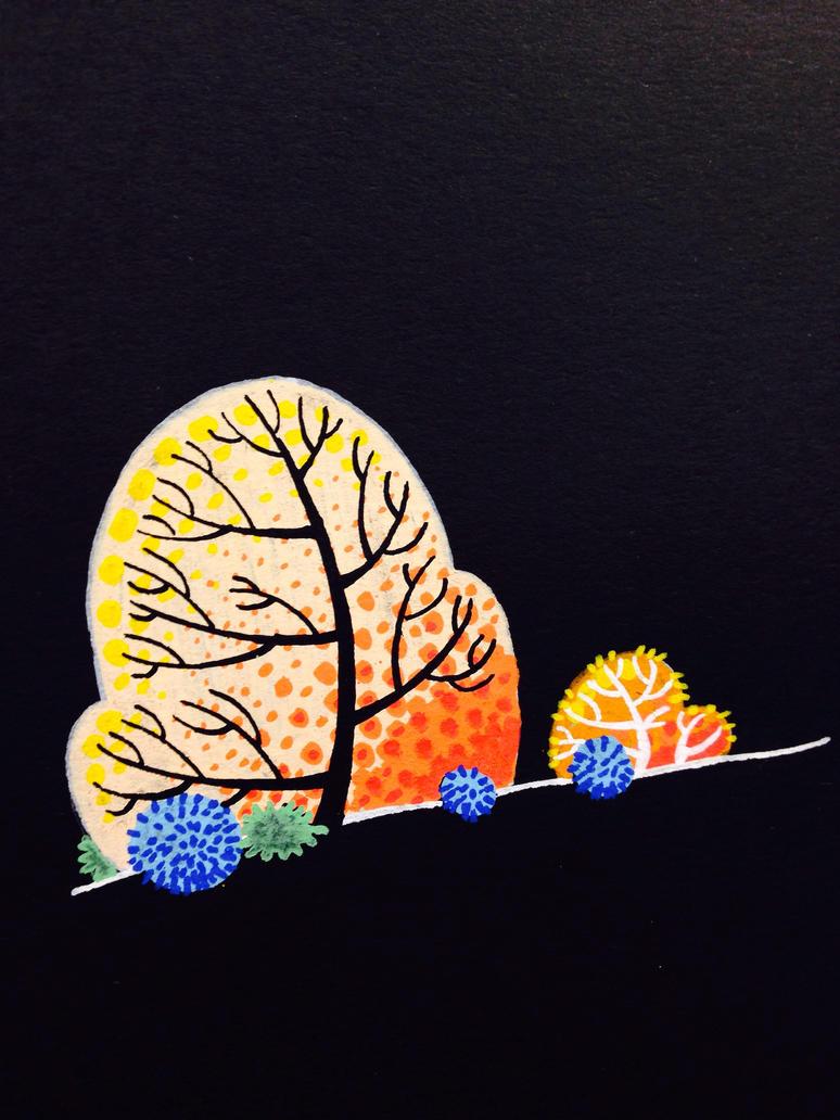 Tree sketches by atarashiidesu