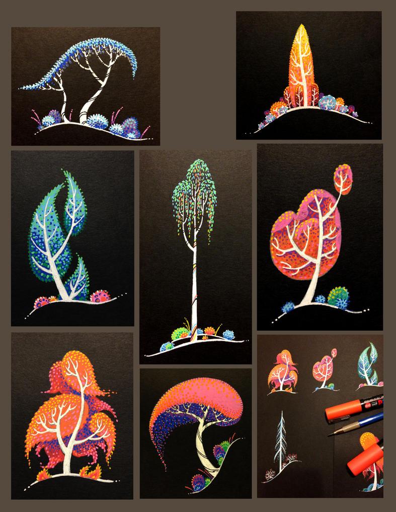 tree sketches V2 by atarashiidesu