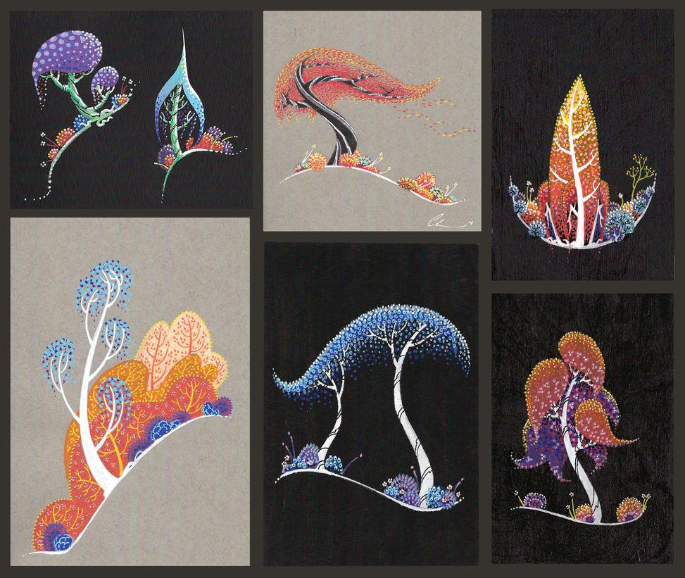 Mini Paintings! by atarashiidesu