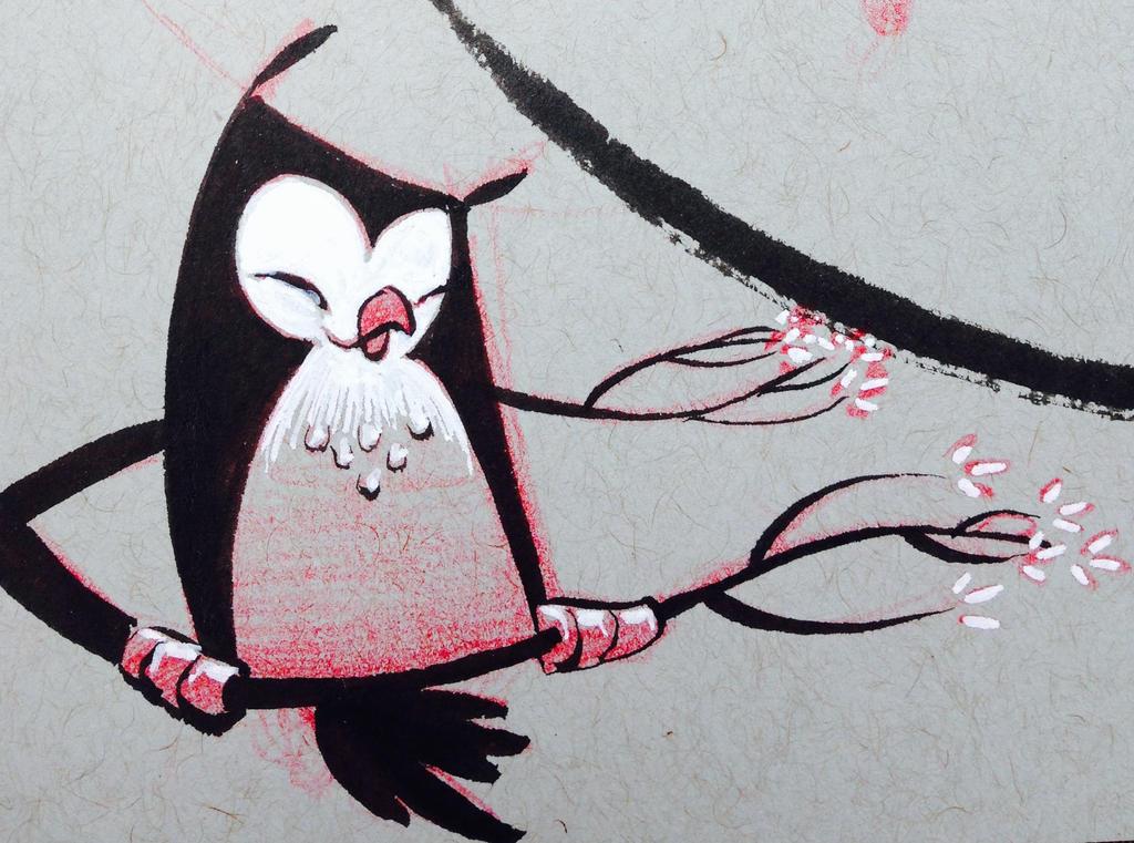 ImageSketchbook owl. 1 by atarashiidesu