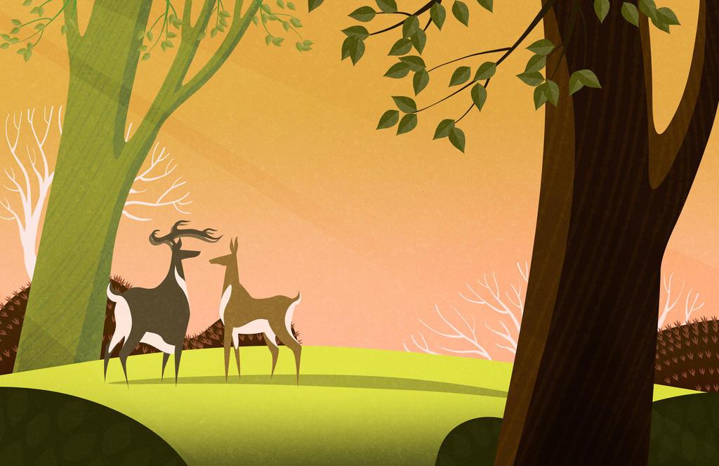 Deer by atarashiidesu