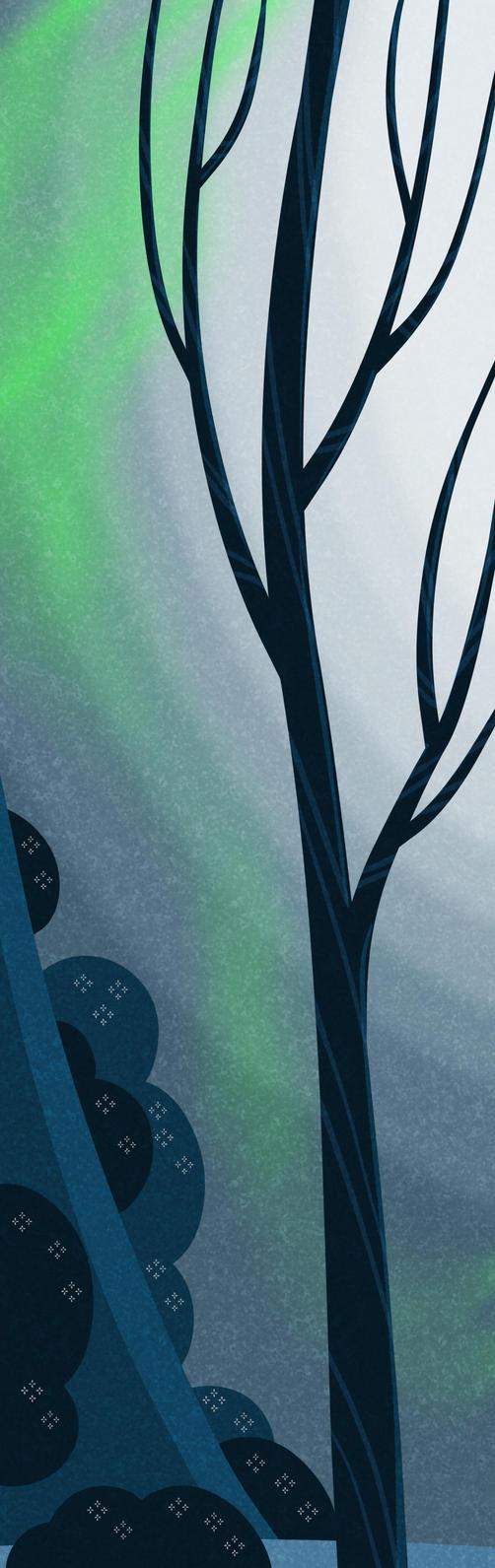 Northern Lights WIP by atarashiidesu
