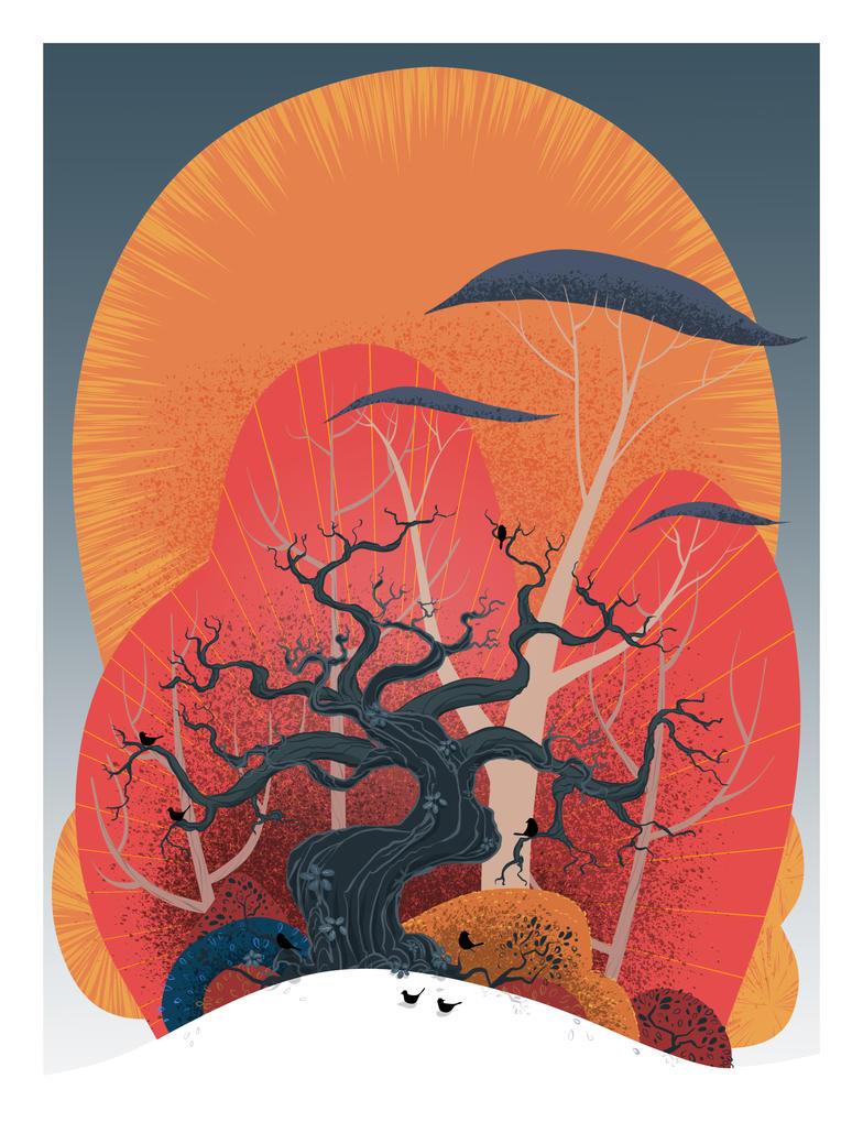 Crowded Oak by atarashiidesu