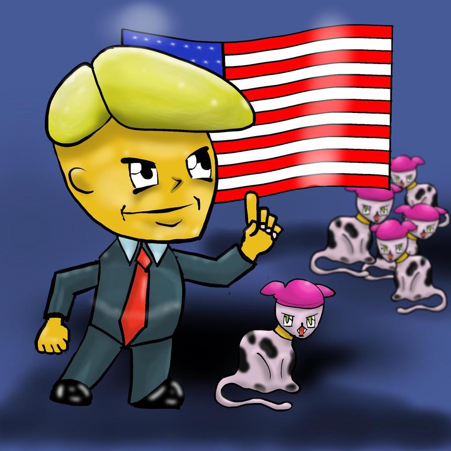 Trumps tremendous cat litter. by rpjArt