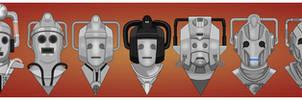 Cybermen, 1966-2013 by Nevski86