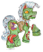 2007 :: MLZP - My Little Zombie Pony by PinkAppleJam