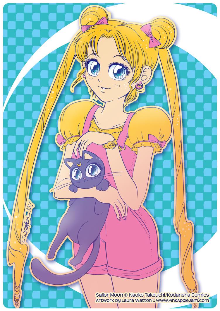 2013 :: Usagi and Luna by PinkAppleJam
