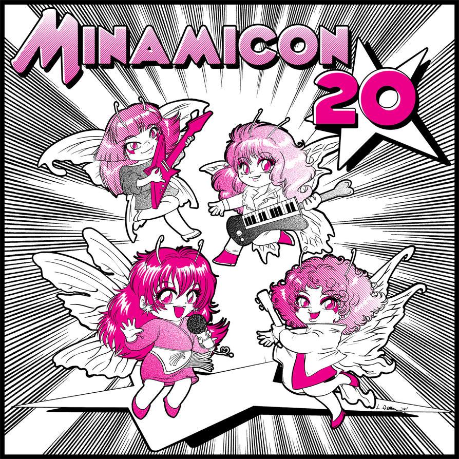 2014 :: Minamicon 20 con bag illo by PinkAppleJam
