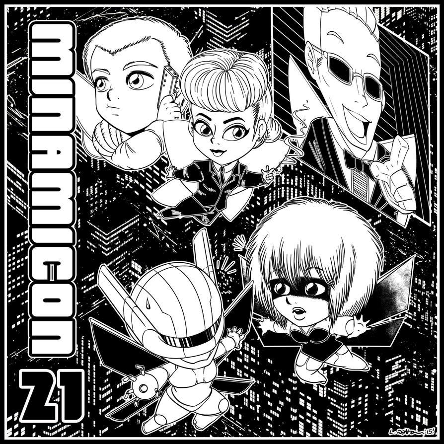 2015 :: Minamicon 21 con bag illo by PinkAppleJam