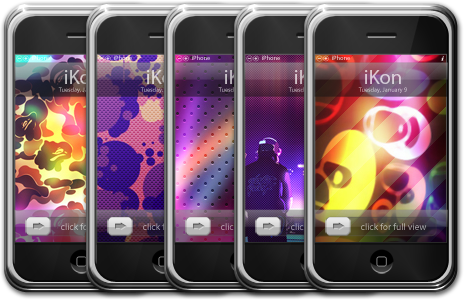 iKon iPhone Walls by iTouchPhone-Group
