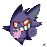 Silly Gengar by DigitalPelican