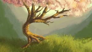 Bending Tree by dreamin-Lea