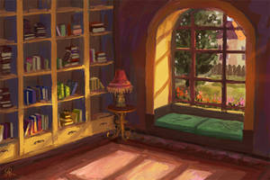 Library room by dreamin-Lea