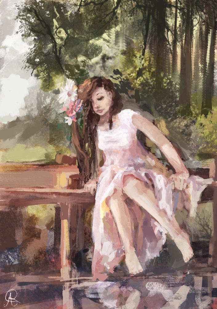Girl on a bridge by dreamin-Lea
