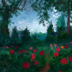 Field of Roses by dreamin-Lea