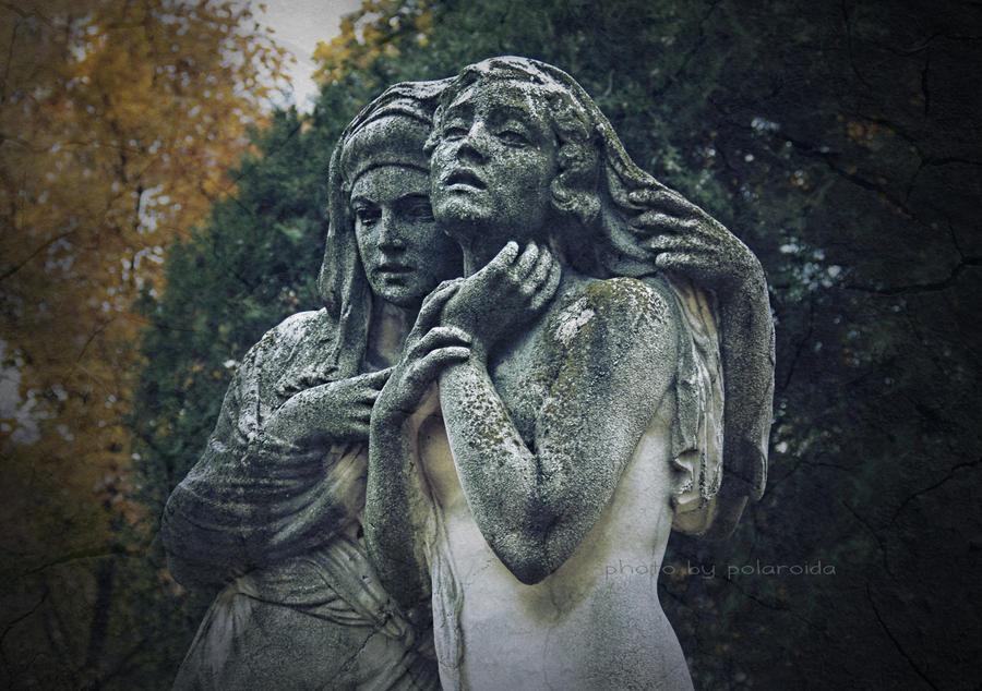 cemetery statue by p0lar0ida