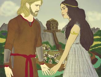 Astarte and Baldur by p0lar0ida