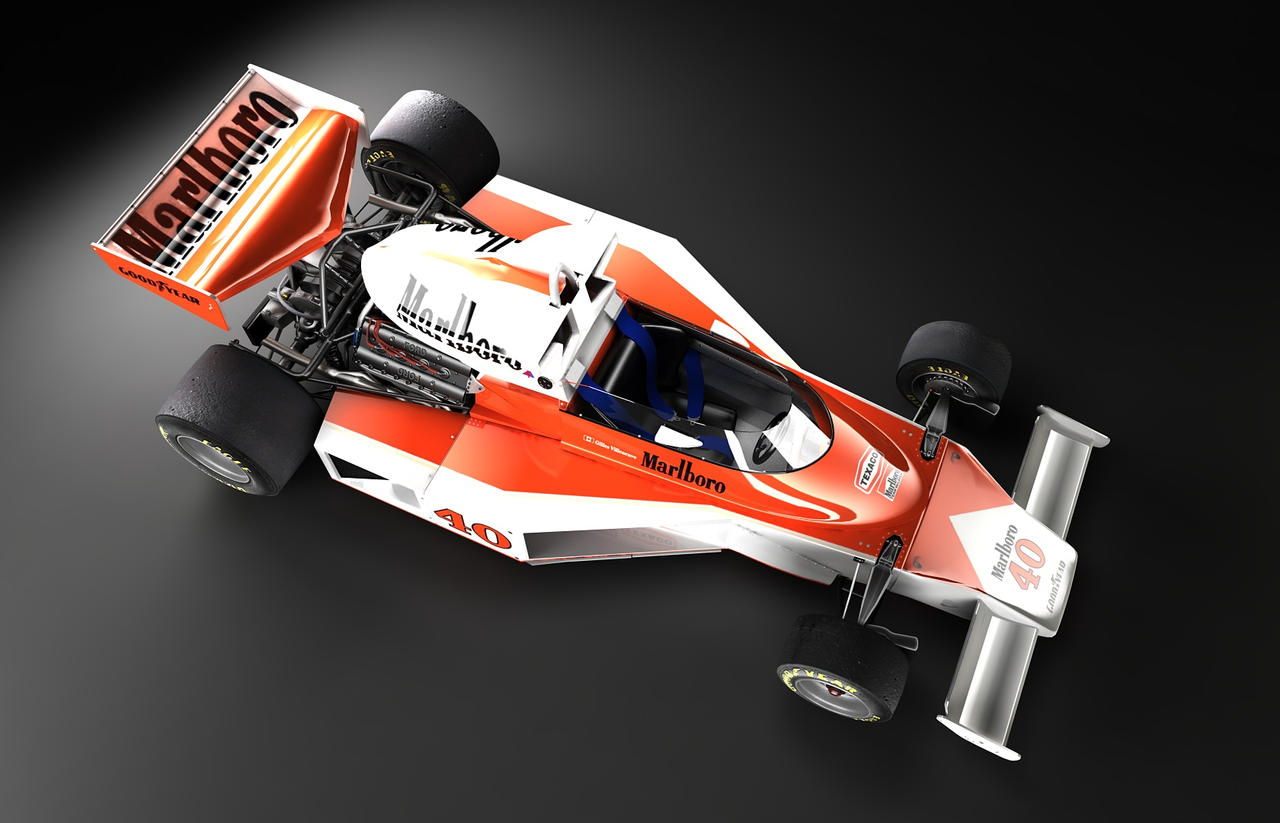 McLaren M23 top view by TheUncle