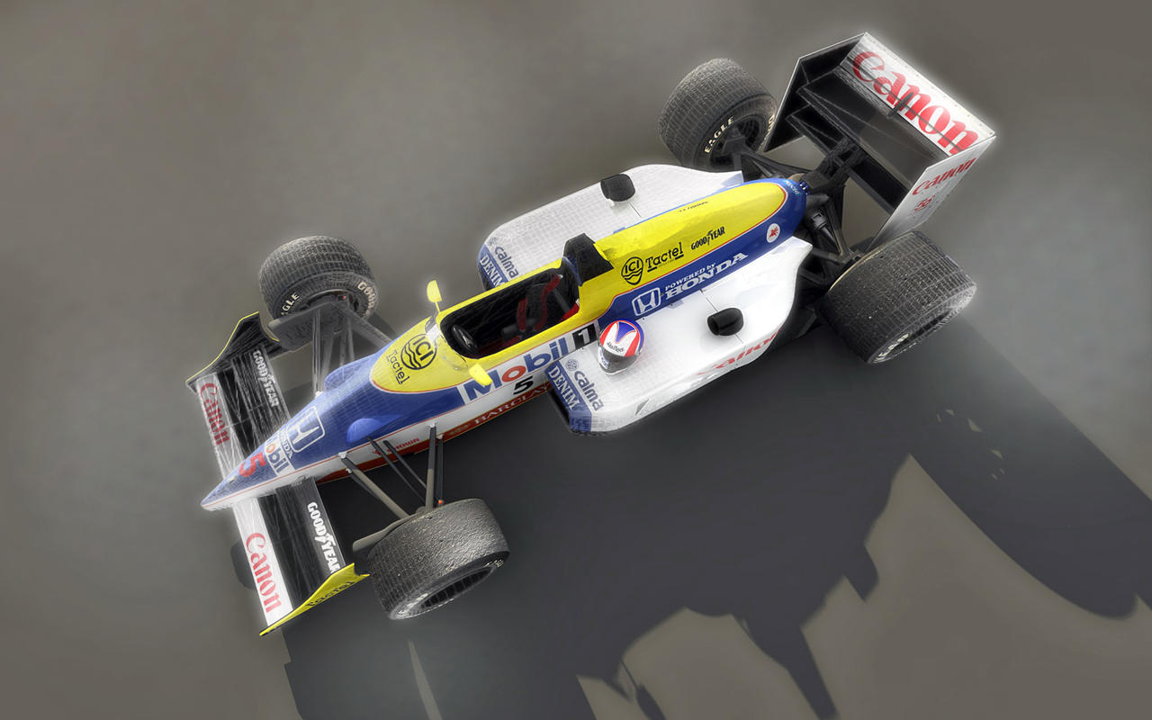 williams fw11 wireframe by TheUncle