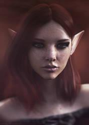 Georgia | 3D Fantasy Portrait by Leshiye-Art