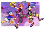 [+Speedpaint] Sora, Donald and Goofy by McRey